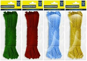 30m ClothesLine PP Washing Line Rope 3 Colours or Clothes Pegs (SOLD INDIVIDUAL)