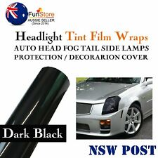 Fantastic Headlight Tint Head Fog Car Front Rear Light Smoke Dark Black 125x30cm