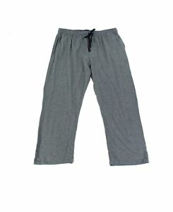 Hanes Mens Sleepwear Charcoal Gray Size Large L Lounge-Pants Pull-On $30 #445