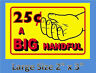 10 BIG HANDFUL Stickers Bulk Vending Labels