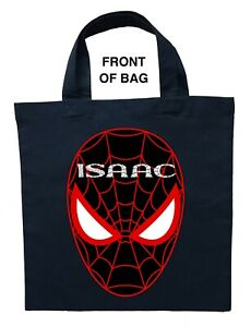 Spiderman Trick or Treat Bag - Personalized Spiderman Halloween Bag