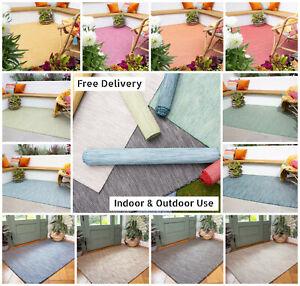 Washable Outdoor Rug | Rain Resistant Plastic Garden Rugs | Modern Runner Mats