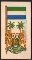 Flag And Standard - Banner For Sierra Leone c50 Y/O Trade Ad Card