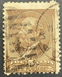 USA 1882 Garfield 5¢ Brown Scott 205 Used