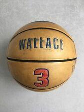 Rare Spalding 64-574 Ben Wallace Jersey Basketball (Home) - Detroit Pistons #3
