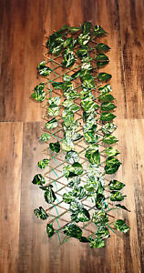 Privacy Screen Max Length 7ft x 1ft Lattice Faux ivy Porch Covers Green Brown