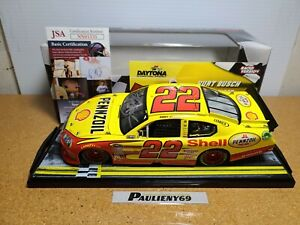 2011 Kurt Busch #22 Shell Bud Shootout Win Autograph COA 1:24 NASCAR Action MIB