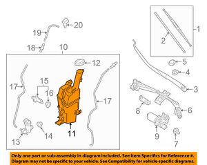 KIA OEM 15-16 Sedona Wiper Washer-Windshield-Tank Reservoir 98620A9510