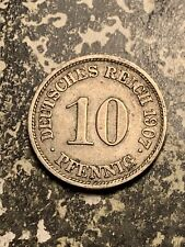 1907-J Germany 10 Pfennig  Lot#Q9308