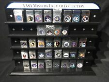 NASA MISSIONS LIGHTER COLLECTION WITH DISPLAY CASE 29 NEW LIGHTERS NOT ZIPPO