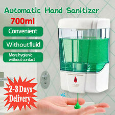 700ml Automatic Sensor Soap Dispenser Touchless Liquid Sanitizer Wall Mounted UK