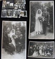 Original Nachlass 21 Fotos Hochzeit Fallschirmjäger   2.WK