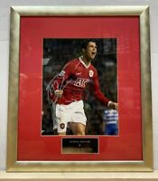 ** Cristiano Ronaldo at Manchester United Signed Autograph Framed Photo **