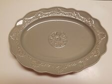 NEW SKYROS DESIGNS HANDCRAFTED IN PORTUGAL - BELEZA OVAL SERVING PLATTER SLATE
