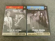 LOT DE 2 DVD 4 films!! MAIGRET Jean Richard, 2 Claude Barma,2 Georges Simenon