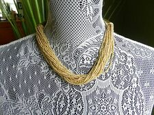 Lucky Brand Gold Tone Beaded Torsade Collar Necklace MSRP $49
