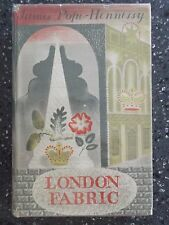 LONDON FABRIC. JAMES POPE HENNESSY. ERIC RAVILIOUS LITHOGRAPH DUST WRAPPER. 1939