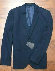 Armani Exchange A|X $230 Men's Navy Stretch Mid-weight Blazer Sport Coat 40