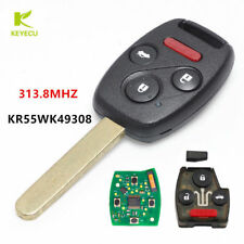 3+1Button Remote Control Key 313.8MHz for 2008-2012 Honda Accord FCC:KR55WK49308