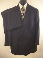 Christian Dior Men Wool Suit 2 Pc 43R  38 x30 Double Breasted Vtg Vintage USA