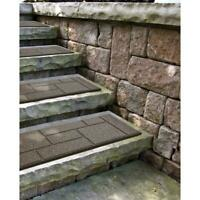 4-Pack Rubber Stair Tread 24 x 10 in. Brown Porch Deck Step Stone Paver Non-Skid