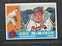 Don McMahon #189 Topps 1960 Milwaukee Braves Vintage Original Card EX/NRMNT