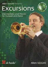 Excursiones para trompeta Y Piano Partituras Libro Con Cd Allen Vizzutti