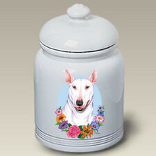 White Bull Terrier Ceramic Treat Jar Tp 47099