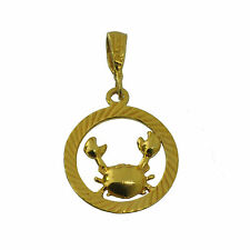 Gold Plated Cancer Charm Zodiac Astrology Horoscope astrology Water Crab Jewelry
