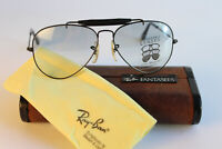 Ray Ban Fantasees Outdoorsman 58 14 Black Chrome B&L USA Bausch & Lomb Vintage