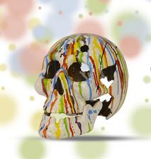 Halloween Teelichthalter Totenkopf Tropfart weiss Curios ausgefallen Geschenk