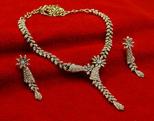 New Indian Goldtone Women Wedding Party Designer Necklace Earrings Set Jewelry
