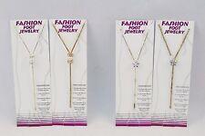 48 (12 x 4) Pcs Foot Jewelry w/Faux Pearls & Rhinestones ~ Gold/Silver Tone New