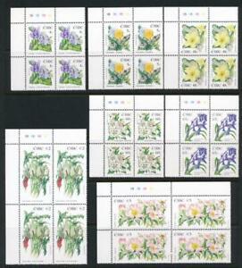 IRELAND 1563-1569 MNH 2004 FLOWERS, PLATE BLOCK 2
