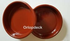 2 x Glazed Terracotta Dishes by Cermer. Oven/Proof. Tapas/Brulee/Olives/Dips.