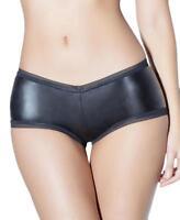 Plus Size Wet Look Bralette With Elastic Stripe Details Coquette D9371X