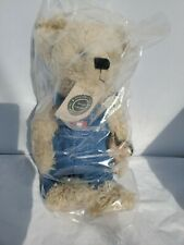 "Boyds Bears Billy Bob Bruin #912622 14"" w/Denim Overalls/Frog Nwt Factory Sealed"