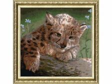 GOLDEN FLEECE COUNTED CROSS STITCH KIT LYNX-CUB ANIMALS EMBROIDERY NEW