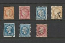 France VINTAGE collection of 7 CERES & NAPOLEON stamps -  Used - see scans