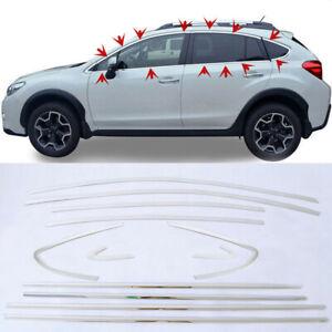 Top& Bottom One Set Sill Cover Trim 12pc For Subaru XV Impreza Hatchback 2012-15