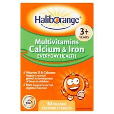 Haliborange Kids Multivitamins Calcium Iron Vitamin D Bones & Growth 30 Tablets.