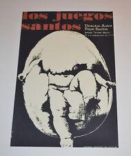 Cuban Theater Poster Art.Home or Room Decoration.1970 Los Juegos Santos.Egg baby