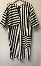 White Label Asos Dress Size 14 Canvas Stripe Shirt Dress Suze 14