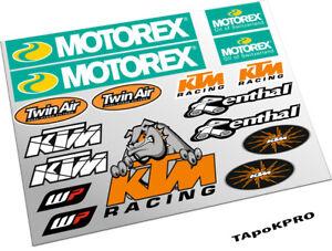 Custom sticker set for KTM Motorex WP Renthal vinyl matte