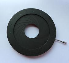 Diafragma de abertura Condensador 4-60 mm nuevo 18 Hojas Iris Cámara Microscopio Adaptador