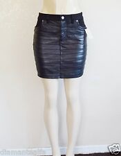 "GUESS Women's Front Pleated Denim Skirt ""SAMPLE"" - Black sz 27"
