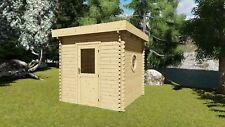 Saunahaus, Garten Sauna Holz, 2.4x2.4M Außensauna 45mm Riga EB45002F28ISOL
