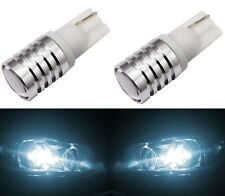 LED Light 5W 194 White 6000K Two Bulbs Front Side Marker Parking Replacement T10