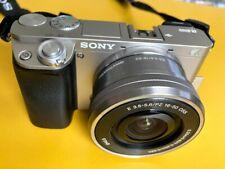 Sony Alpha a6000 Camera w/ E PZ 16-50mm F3.5-5.6 OSS Lens Kit - Silver