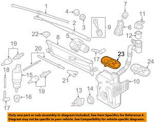 VW VOLKSWAGEN OEM Passat Windshield Wiper Washer-Nozzle Spray Jet 5M0955985C9B9
